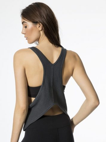 ALO Yoga Centered Tank -Sexy Yoga Tops Anthracite
