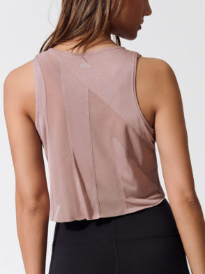 ALO Yoga Present Tank Top -Sexy Crop Top - Yoga Top Smoky Quartz