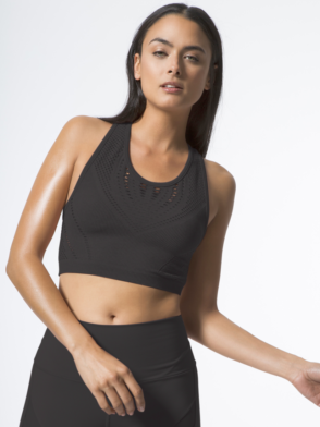 ALO Yoga Lark Crop Top -Sexy Yoga Tops Black