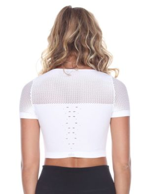 ALO Yoga Mesh Crop Tank Top - Sexy Yoga Tops White