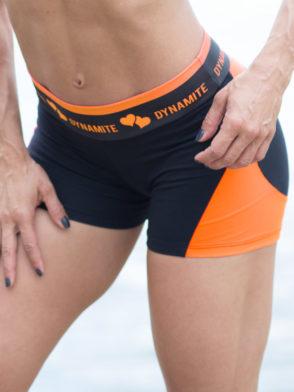 DYNAMITE BRAZIL Shorts SH2094 APPLE BOOTY Tangerine-Sexy Shorts