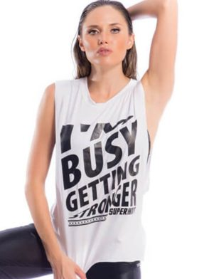 SUPERHOT Sexy Workout Tops Cute Blouse BL1774 Getting Stronger