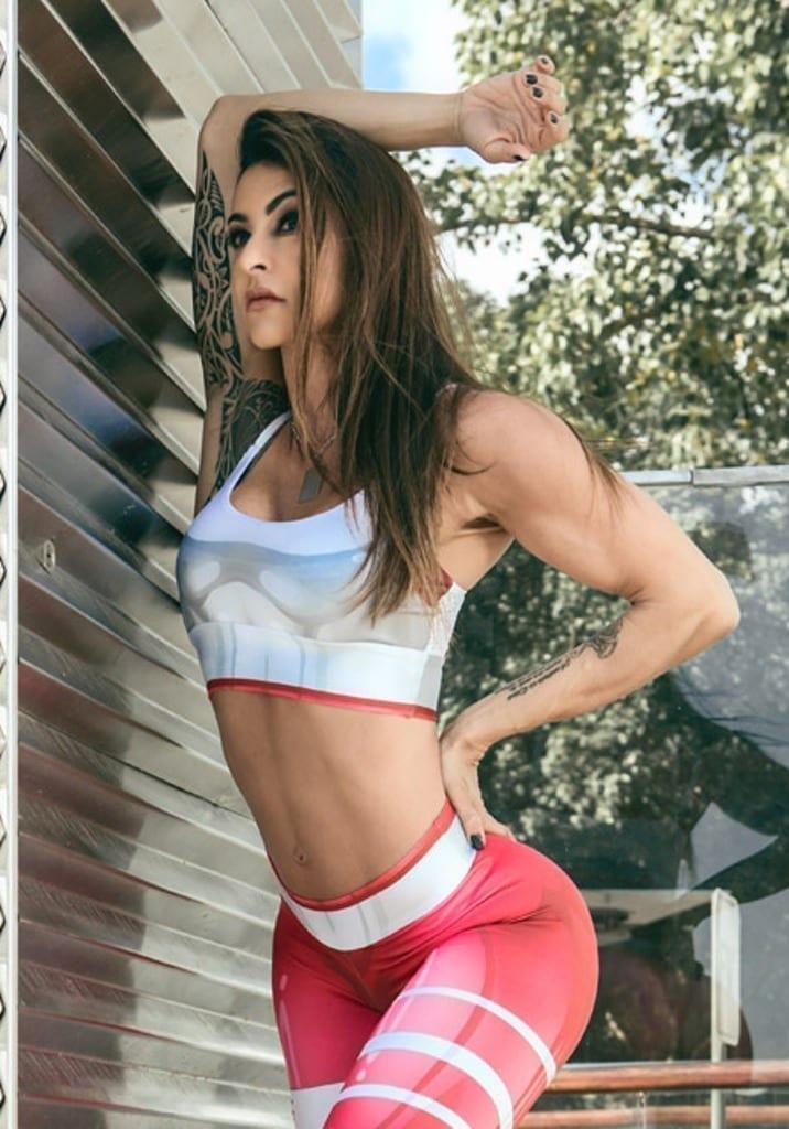 Red sports bra sexy