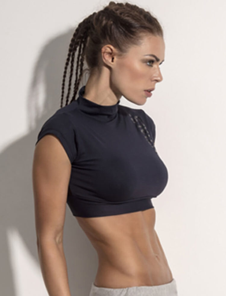SUPERHOT Sexy Workout Tops Cute Crop Tops BL1053