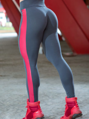 DYNAMITE BRAZIL Leggings L2012 ZARAK Grey Red -Sexy Workout Leggings