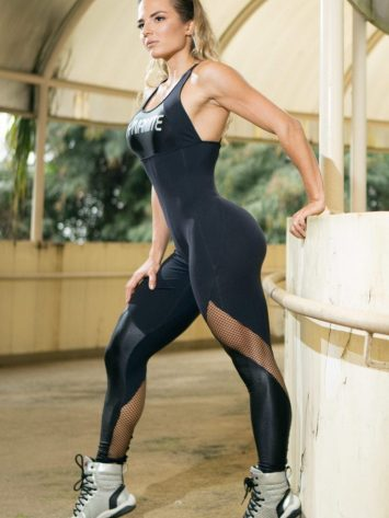 DYNAMITE Jumpsuit Macacao ML2090 Radiance Black-Sexy One-Piece Romper