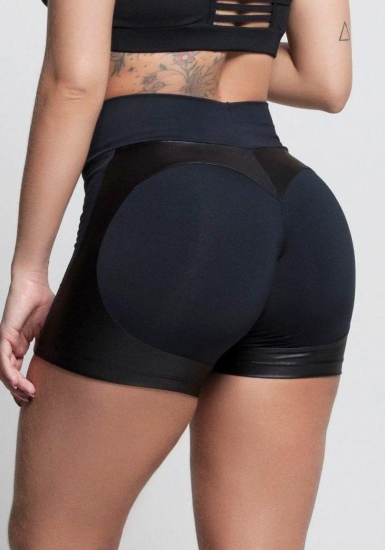 OXYFIT Shorts Heart Butt Cloud 21243 Black- Sexy Workout Shorts-Booty Shorts