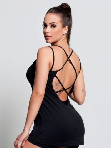 OXYFIT Tank Top Regata Bloom 46399 Black- Sexy Workout Tops