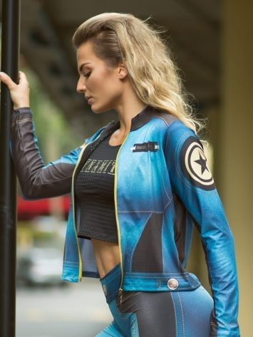 DYNAMITE BRAZIL Jacket CA507 LIBERTY -Sexy Workout Long Sleeve Jacket