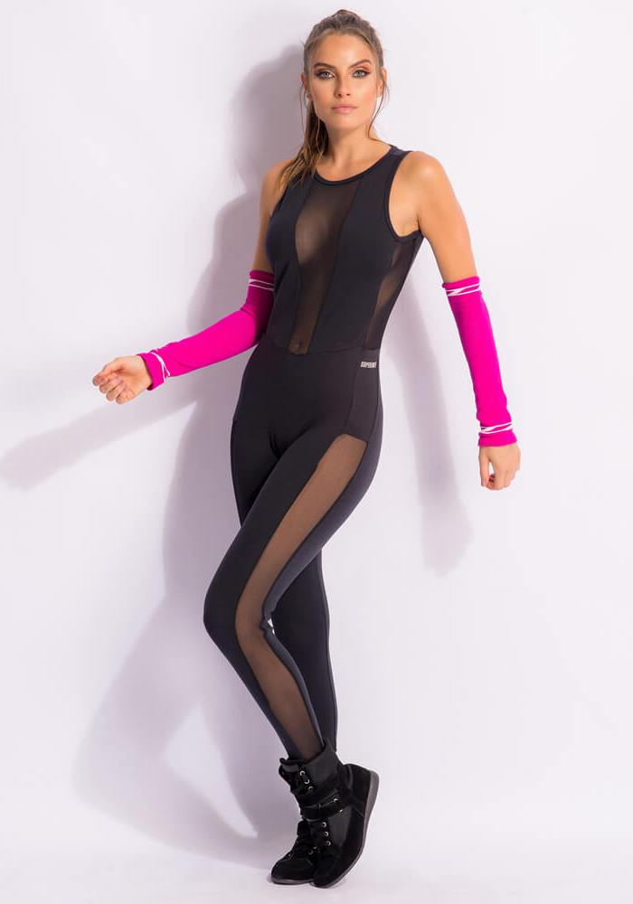 SUPERHOT MAC1541 Sexy Workout Long Jumpsuit- Romper -One-Piece