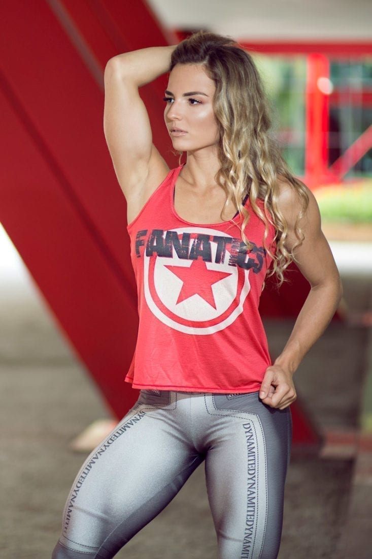 DYNAMITE BRAZIL Regata RF300 FANATICS Red-Sexy Tops Workout Tanks