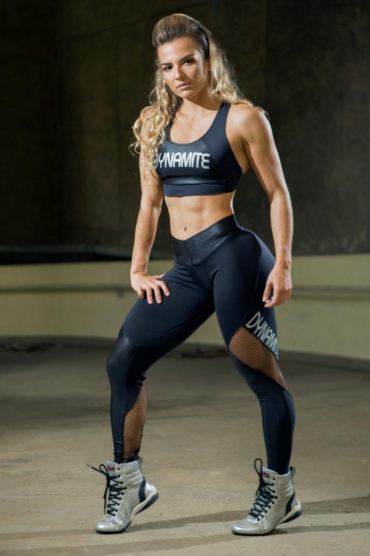 DYNAMITE BRAZIL Sports Bra Top T2090 Achromatic Black-Sexy Crop Tops