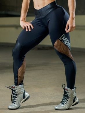 TDYNAMITE BRAZIL Leggings L2090 CRYSTAL Black Mesh-Sexy Workout Leggings