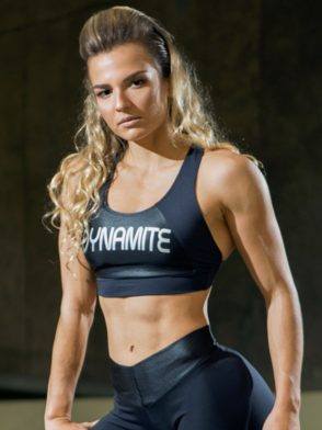 DYNAMITE BRAZIL Sports Bra Top T2090 Achromatic Black-Sexy Crop Tops