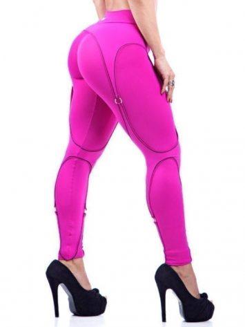 DYNAMITE Brazil Leggings L989 Hot Pink Corset Legging