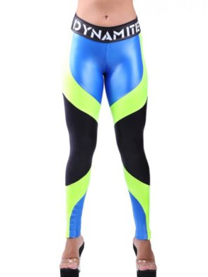 DYNAMITE Brazil Leggings L993 Blue Lime Sexy Workout Leggings