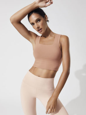 ALO Yoga Bind Fitted Bra Tank Henna -Sexy Workout Bra Tops