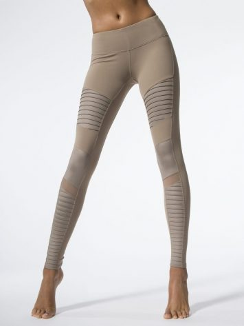 ALO Yoga Moto Leggings Sexy Yoga Gravel Glossy Leggings