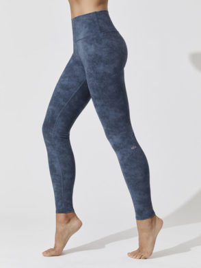 ALO Yoga HIgh Waist Airbrush Legging Indigo Acid Wash- Sexy Yoga Leggings