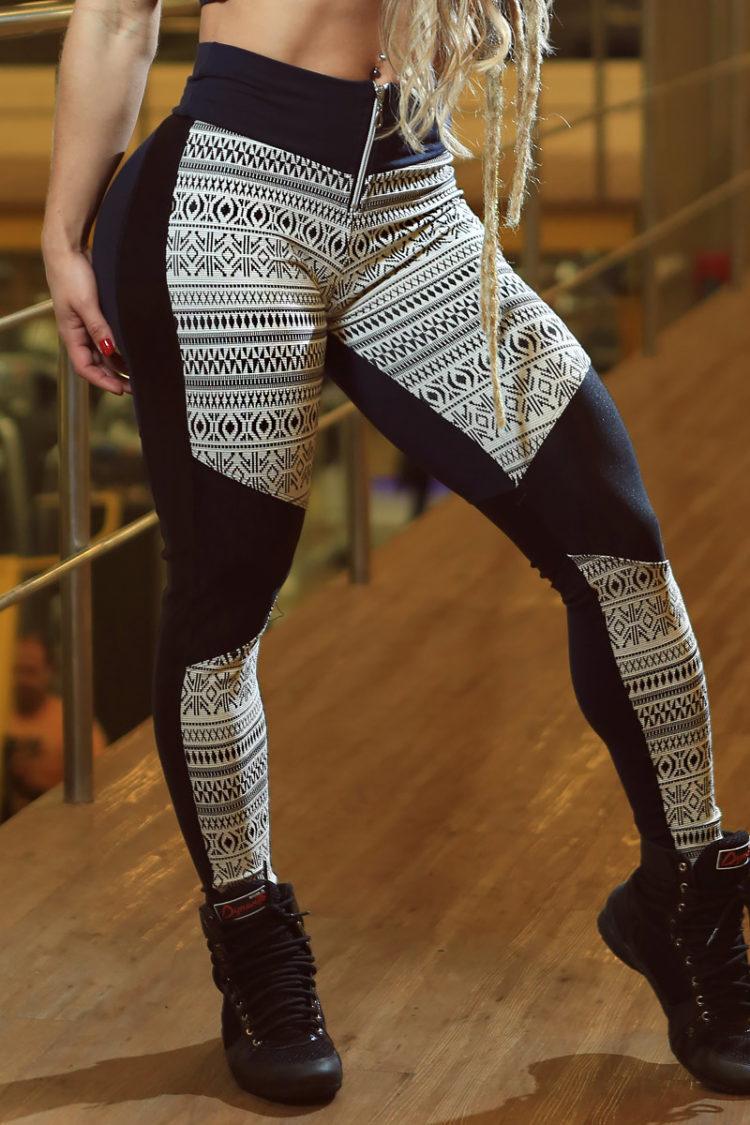 DYNAMITE BRAZIL Leggings L994 Tribal-Sexy Workout Leggings