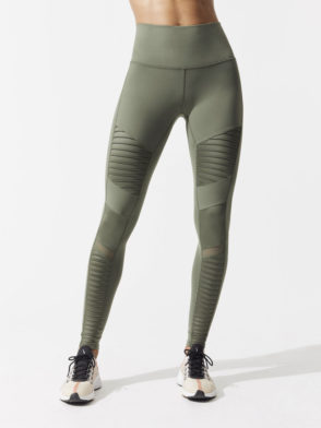 ALO Yoga Sexy Moto Yoga Leggings High Waisted Sexy Pilates Leggings Jungle
