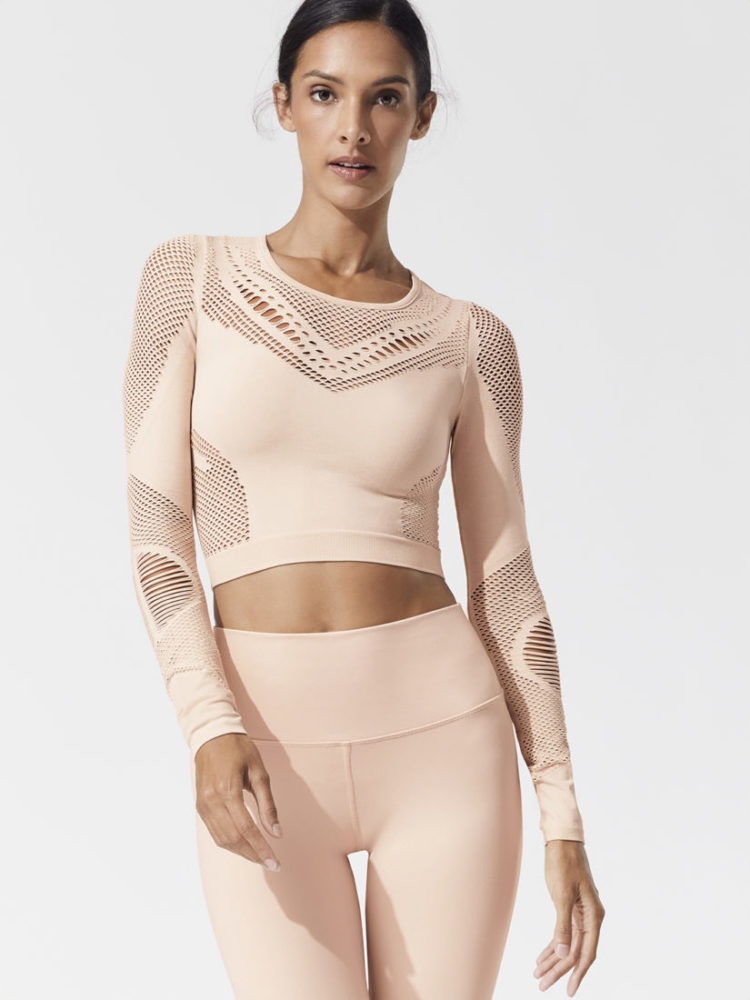 ALO Yoga SIREN LONG SLEEVE Top-Sexy Yoga Tops Nectar