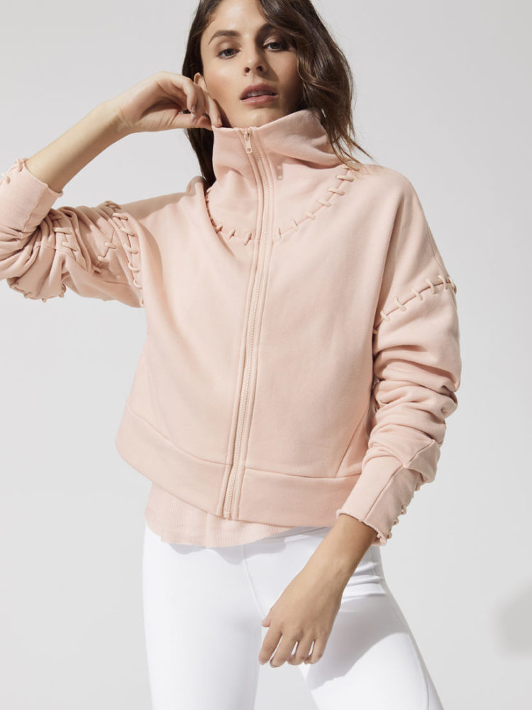 ALO Yoga Splice Jacket Long Sleeve Top-Sexy Yoga Tops Nectar