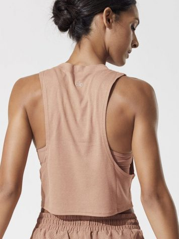 LO Yoga HEAT WAVE CROP TANK -Sexy Crop Top – Yoga Top Henna