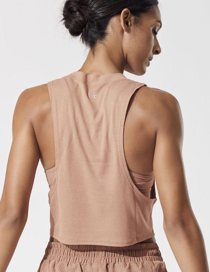 LO Yoga HEAT WAVE CROP TANK -Sexy Crop Top - Yoga Top Henna