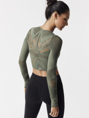 ALO Yoga SIREN LONG SLEEVE Top-Sexy Yoga Tops Jungle