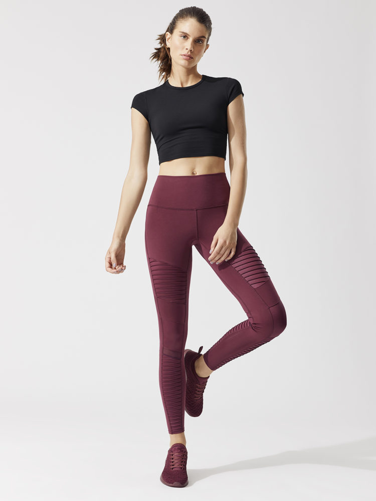 ALO Yoga Choice Short Sleeve Top - Sexy Yoga Tops Black