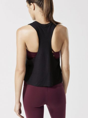 ALO Yoga Flow Tank Thermal- Sexy Yoga Top- Black