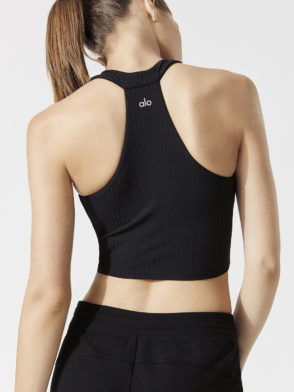 ALO Yoga Unite Bra Tank -Sexy Workout Bra Tops – Black