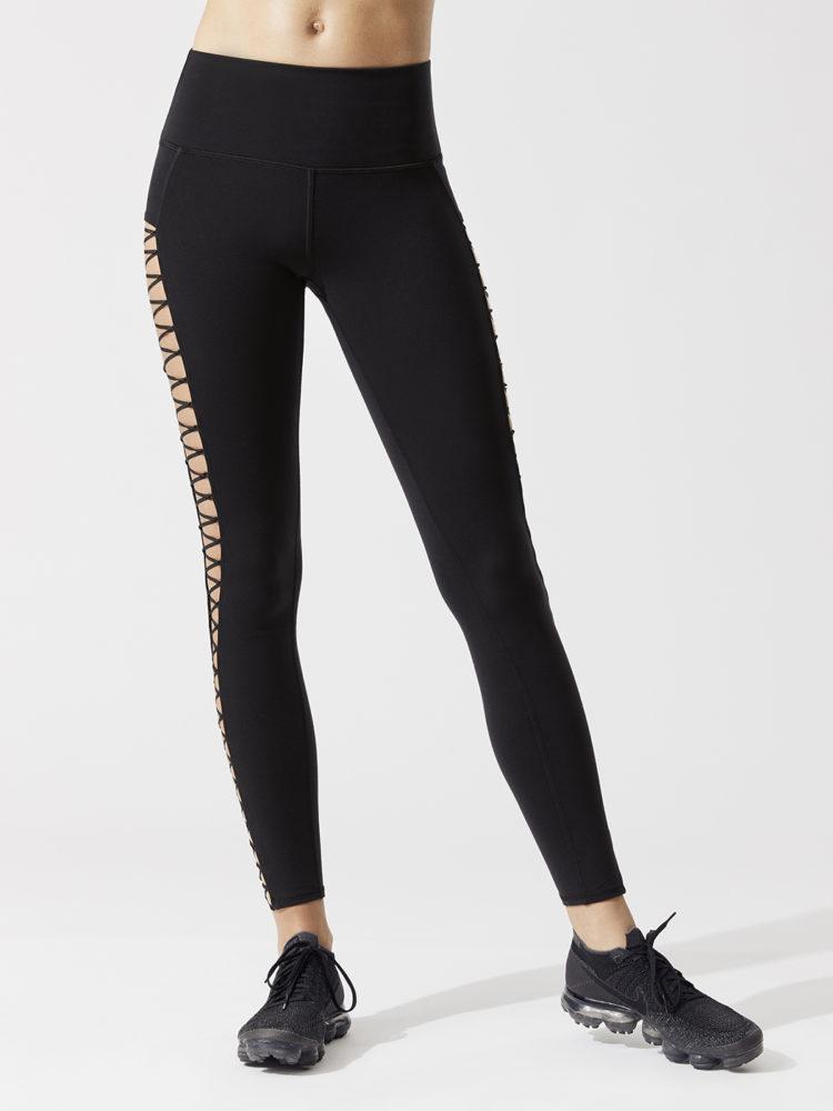 ALO Yoga HighLine Lace-Up Leggings - Sexy Pilates Leggings Black