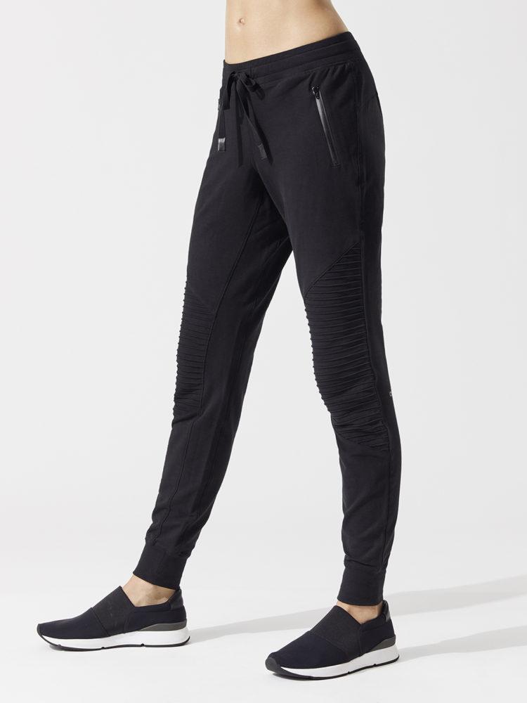 ALO Yoga Urban Moto Sweatpant -Yoga Leggings- Sexy Pilates Leggings Black