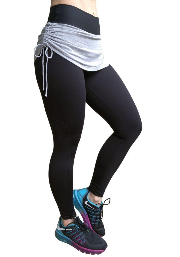 CAJUBRASIL Leggings 5238 Black- Cute Workout Leggings-Brazilian