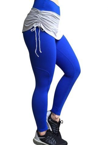 CAJUBRASIL Leggings 5238 Royal- Cute Workout Leggings-Brazilian