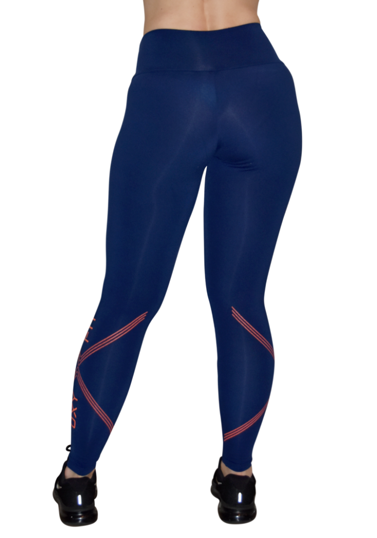 OXYFIT Leggings Mix 64044 Navy- Sexy Workout Leggings
