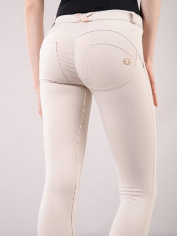 WR.UP® Skinny-Fit Stretch Cotton Trousers WRUP1RC001-Regular Waist – Cream