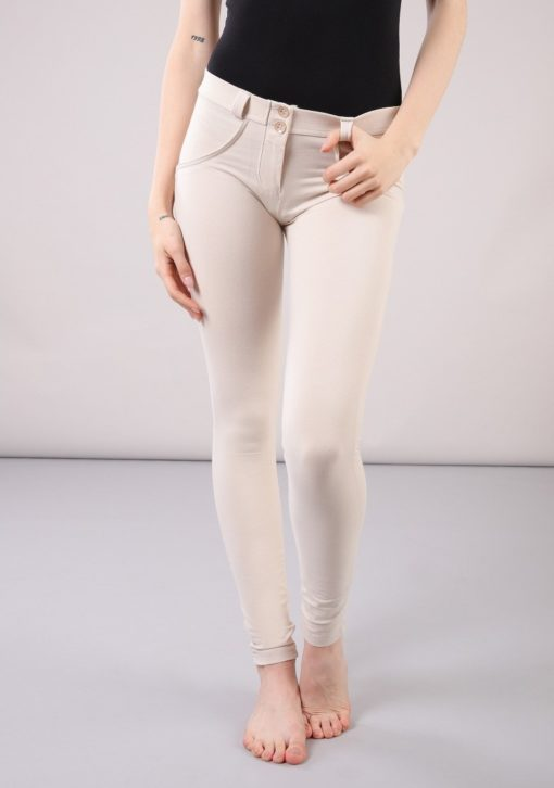 WR.UP® Skinny-Fit Stretch Cotton Trousers WRUP1RC001-Regular Waist - Cream