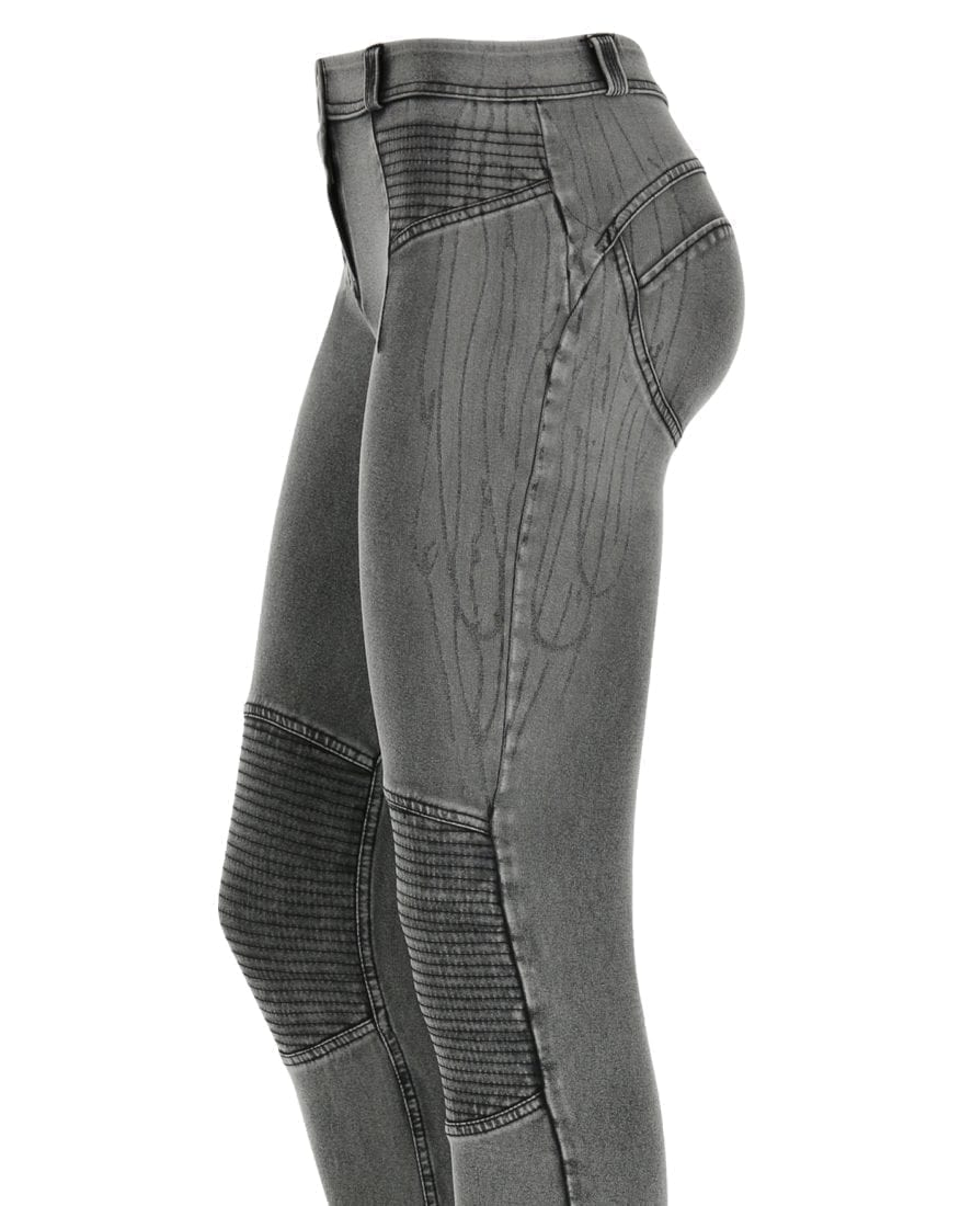 FREDDY WR.UP Reg Rise Skinny-fit trousers w/Drip Effect Denim and Inserts -WRUP1RF816
