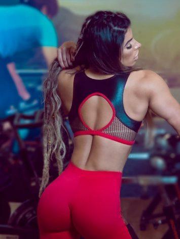 DYNAMITE BRAZIL Sports Bra Top T2096 Fiery - Sexy Mesh Crop Tops
