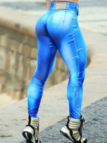 DYNAMITE BRAZIL Leggings L400 Denim Blue