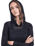 FREDDY WR.UP Tech Black Longsleeve T-SH Hood - S9WTBT1