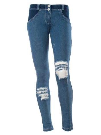 FREDDY WR.UP Shaping Effect Low waist-Skinny Denim Jersey true distressed denim front -WRUP1GLJ4E