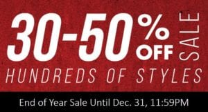 End of Year Sale 30-50% off