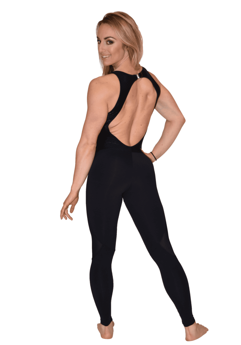 CAJUBRASIL Jumpsuit 7575 Urban Sexy Workout  Romper One Piece Black