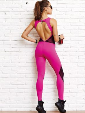 CAJUBRASIL Jumpsuit 8153 Start Pink Sexy Workout Romper One Piece