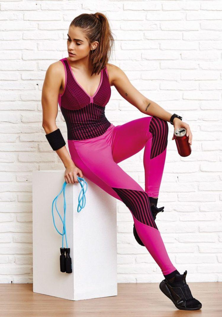 CAJUBRASIL Jumpsuit 8153 Start Pink Sexy Workout Romper One Piece