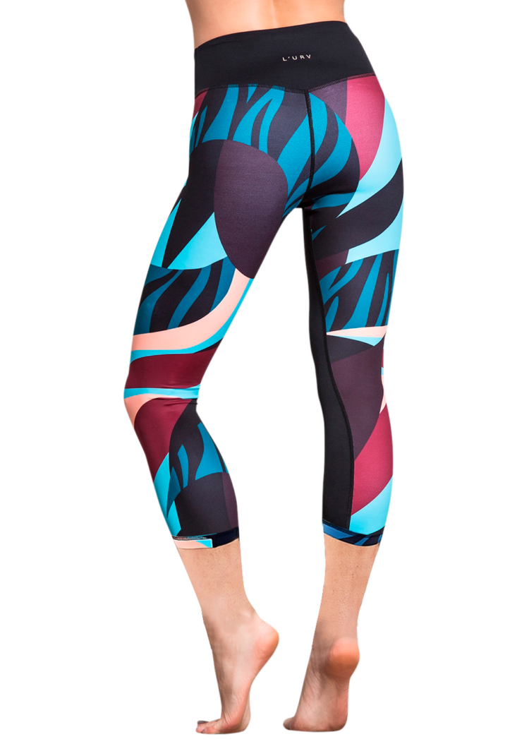 L'URV Leggings Angel Baby 3/4 Red Multi Sexy Workout Tights